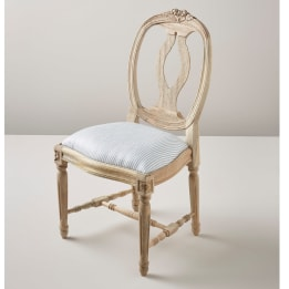 Children's Chair - Linen Stripe Blue