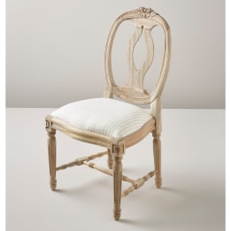 Children's Chair - Linen Stripe Beige