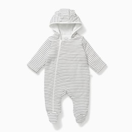 Mori Snug Suit - Grey Stripes