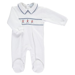 Smocked Soldier Babygrow