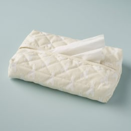 Tissue Cover - Rabbit Trellis Cream