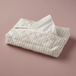 Tissue Cover - Linen Stripe Beige
