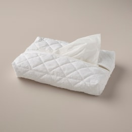 Tissue Cover - White Spot Voile