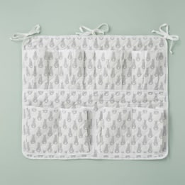 Cot Tidy - Rabbit Trellis Grey