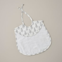 Bib - Rabbit Trellis Grey