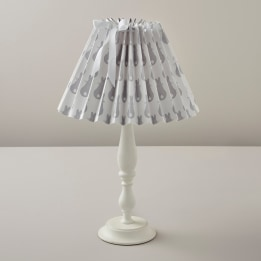 Pleated Lampshade - Rabbit Trellis Grey