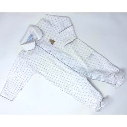 Teddy Bear Babygrow - Grey Spot