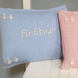 Name Cushion - Blue Bunnies