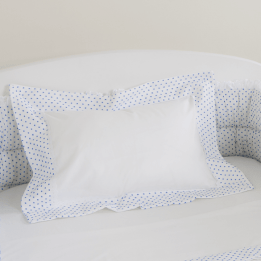Pillowcase- Blue Spot Voile