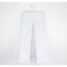 Nappy Stacker - Blue Spot Voile