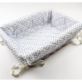 Layette Basket - Blue Spot Voile