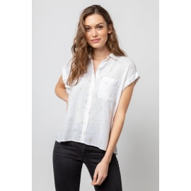 WHITNEY Blouse - White Gold Electric