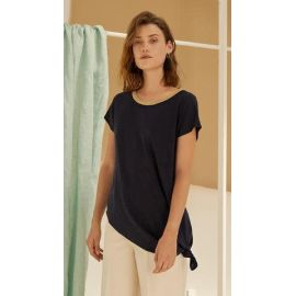 LANDIS  TOP - Navy Blue