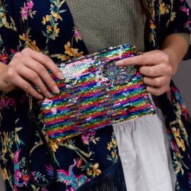 SEQUIN Clutch - Multi