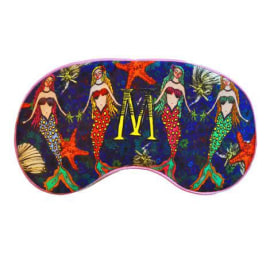 SILK EYE MASK - M for Mermaid Party