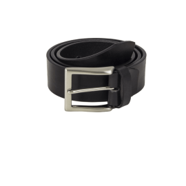 Solid Leather Belt in Black