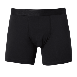 LONG LEG Stretch Cotton Trunks - Black