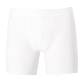 LONG LEG Stretch Cotton Trunks - White