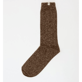 Melange Thick Ribbed Organic Cotton Socks - Beige/Petrol