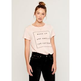 LOLA WAKE UP Loose T-Shirt - Pink