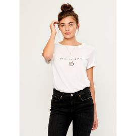 LOLA CUP OF TEA Loose T-Shirt - White