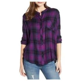 ALLISON Shirt - Magenta Iris Black