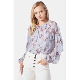 KRISTON Patterned Silk Blouse - Eventide