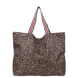 ANIMAL Foldable Shopper - Chocolate Brown