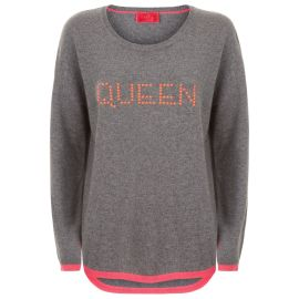 MAYA Queen Hot Fix Jumper - Grey/Macarron