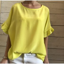 FIRE Silk Top - Yellow Fluro