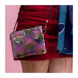 SEQUIN Clutch - Silver