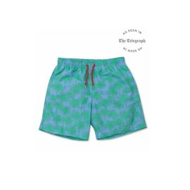 THE PALMS Swim Shorts - Green/Blue