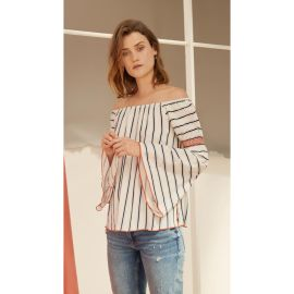 NELIA Top - Blue Stripe