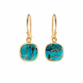 IONA Copper Turquoise Gold Vermeil Earrings