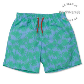Men's Swim Shorts - Palms Green/Blue
