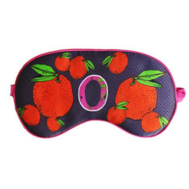 SILK EYE MASK - O for Winter Oranges
