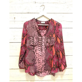 WINDSOR Blouse - Python Mermaid