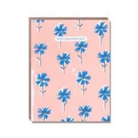 Happy Mothers Day Blue Wallflowers Card