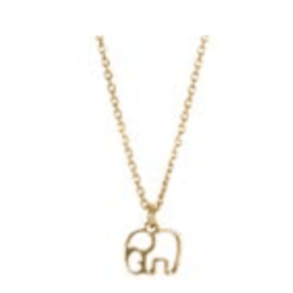 ELEPHANT Chain Necklace - Gold