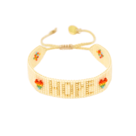 Rainbow Beaded Bracelet - Hope