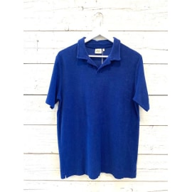 BOUCLETTE Knitted Polo Shirt - Lagoon Blue