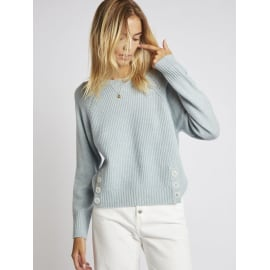 ARTY Button Front Jumper - Sky Blue