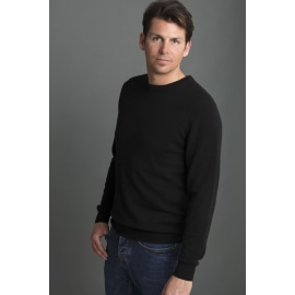 DIEGO Round Neck Cashmere Jumper - Dark Navy