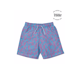SEAWEED Swim Shorts - Bright Blue/Coral Pink