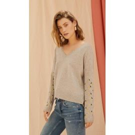 CLOVE CASHMERE JUMPER - Light Grey Melange