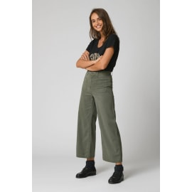 LUCIA Wide Legged Trousers - Moss Green