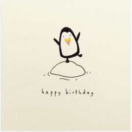 Birthday Penguin Pencil Shavings Card