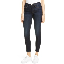 LE HIGH SKINNY Outseam Slit Jean - Copa Copa