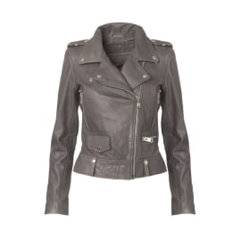 SEATTLE Leather Jacket - Grey