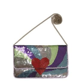 PARADI POETRY Sequin Clutch - Lilac Snow
